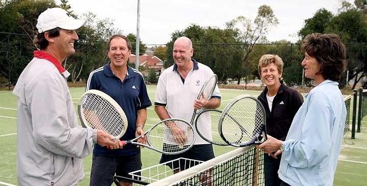 Playing tennis is fun